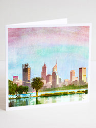 Perth City Skyline Card