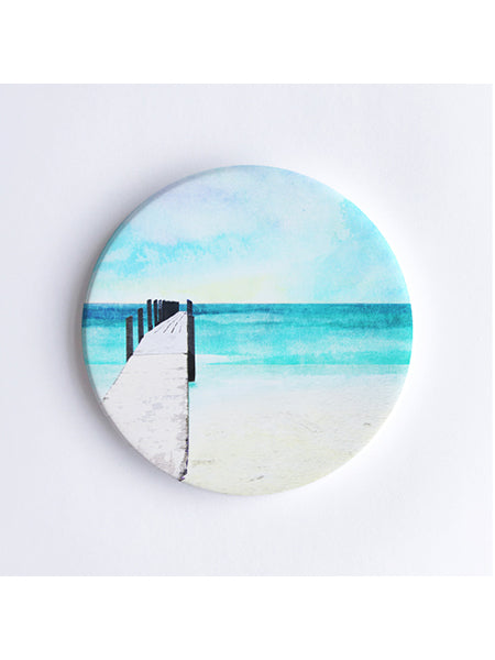 Quindalup Beach and Jetty Ceramic Coaster
