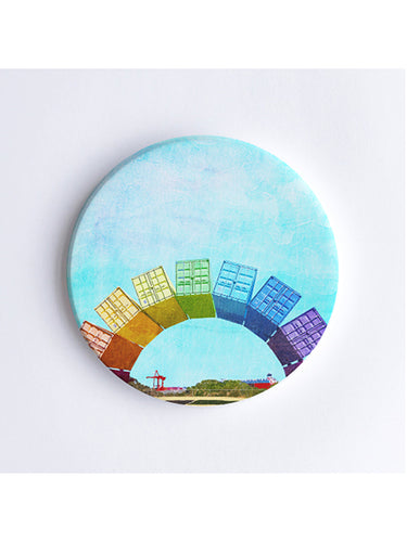 Fremantle Rainbow Containers Ceramic Coaster