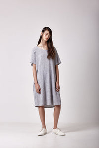 Shadow Dress - Grey Stripe
