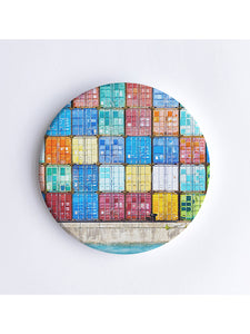 Fremantle Shipping Containers Ceramic Coaster