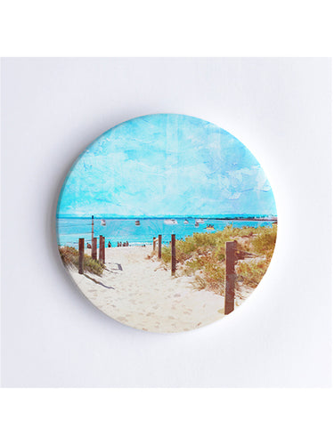 Summer Days at South Beach Ceramic Coaster