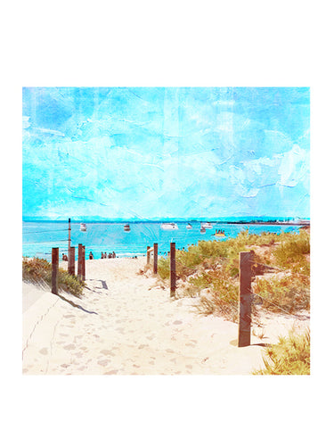 Summer Days at South Beach Art Print