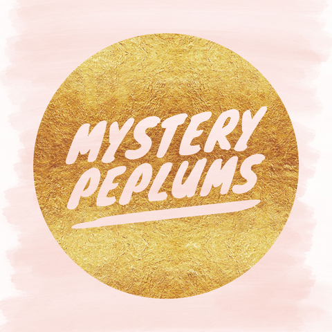 Mystery peplums - all one fabric