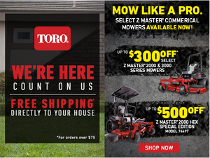 SAVE BIG ON TORO Z MASTERS RIGHT NOW!