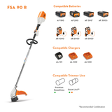 Stihl FSA 90 R - Battery Powered String Trimmer