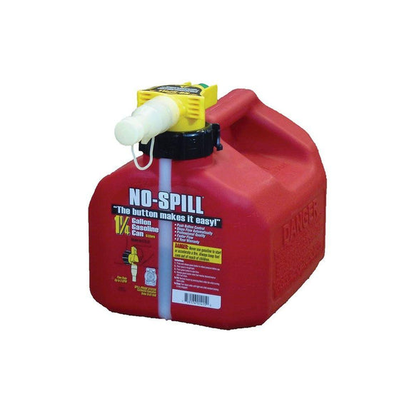 Red 1.25 Gallon No-Spill Fuel Can (1415) - outdoor-power-sales-service-llc.myshopify.com