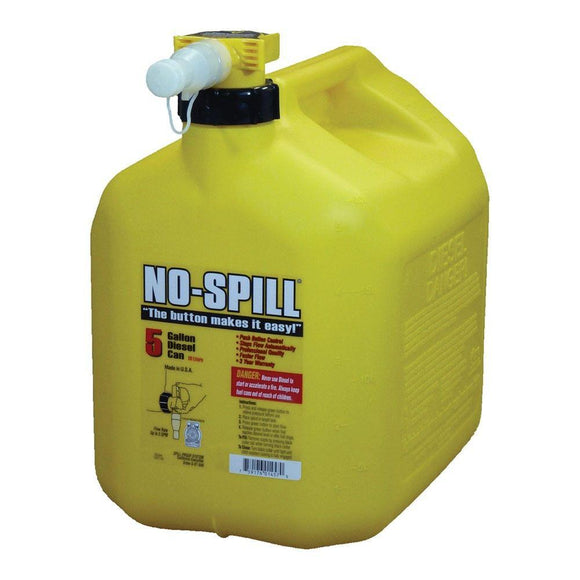 Yellow 5 Gallon No-Spill Diesel Fuel Can - outdoor-power-sales-service-llc.myshopify.com