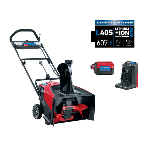 TORO PowerClear® e21 60V Battery Snow Blower (39901) With 7.5 ah Battery & Charger