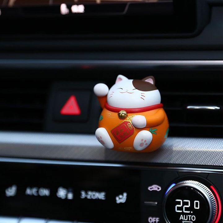 【★★★Lucky with you 】Discount Up to 30% OFF Today!! Lucky cat Car fragranceOrange+FRUITY AROMA
