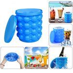 Hot Sale- Large Silicone 2 in 1 Ice Bucket & Ice Mold
