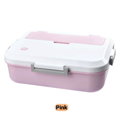 pink simple plastic lunch box for adults and kids