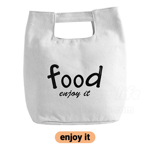 stylish canvas lunch bag for women beige