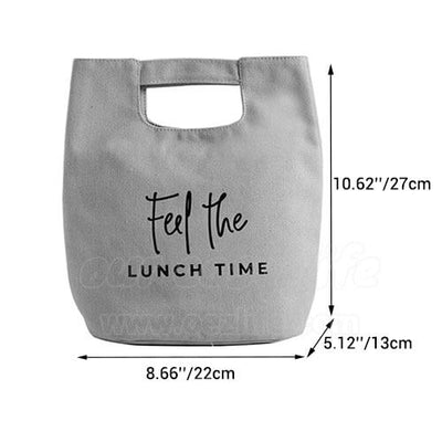 stylish canvas lunch bag for women dimensions