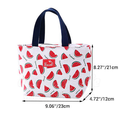 dimension of fashionable flamingo japanese lunch tote bag for women