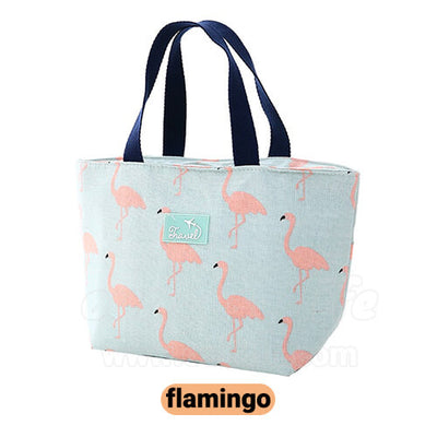 flamingo lunch tote bag for women