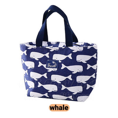 navy blue lunch tote bag for women