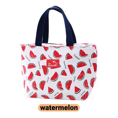 watermelon lunch tote bag for women
