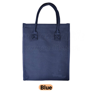 blue designer foldable insulated lunch bag purse for women to work