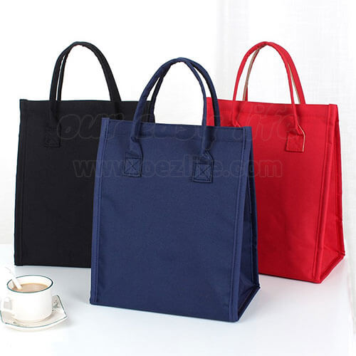 designer insulated women lunch bags purse for work display