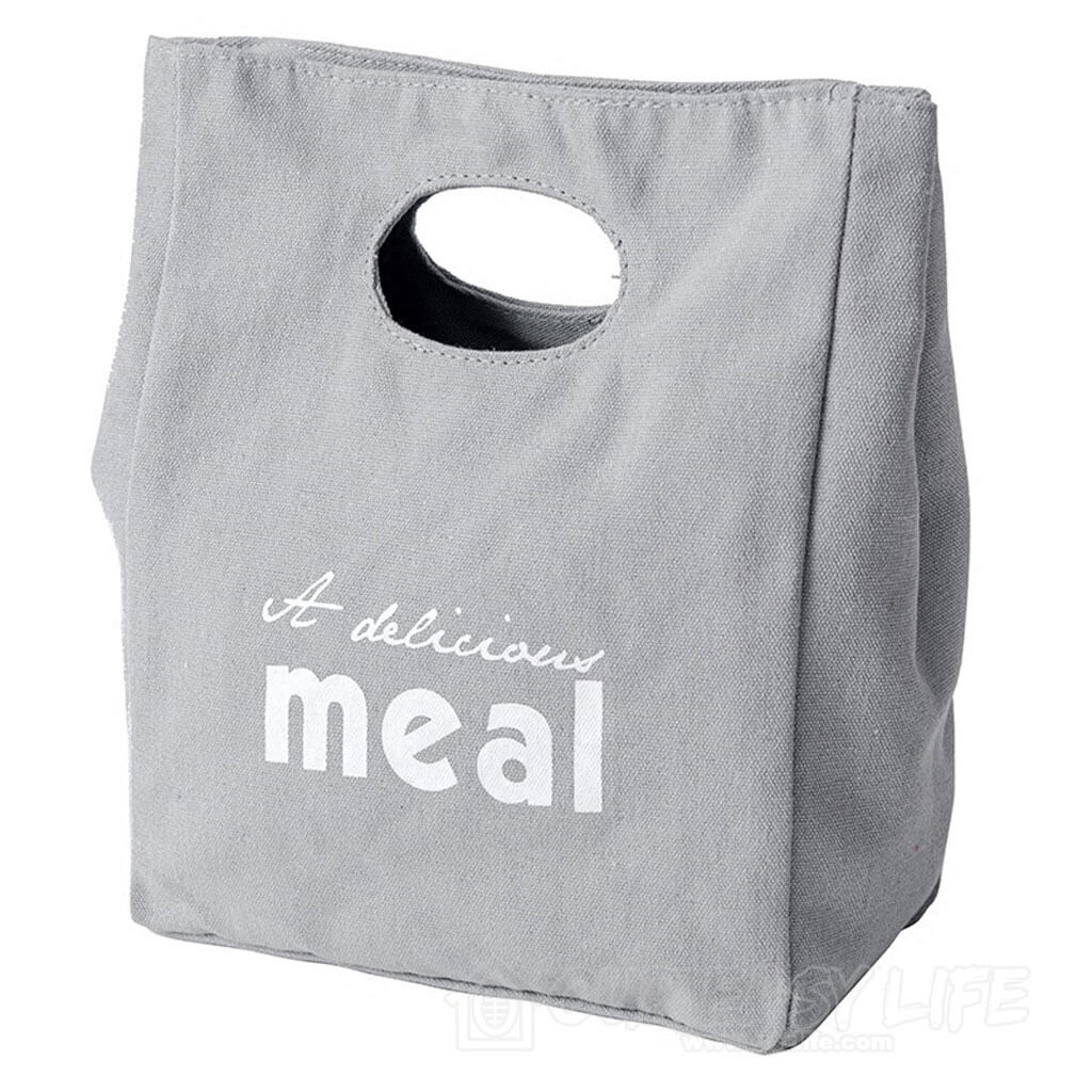 Reusable Organic Cotton Canvas Stylish Lunch Tote Bags-main