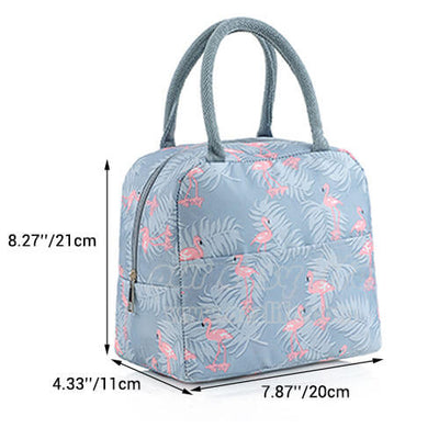 dimension of insulated cute lunch tote for women girls