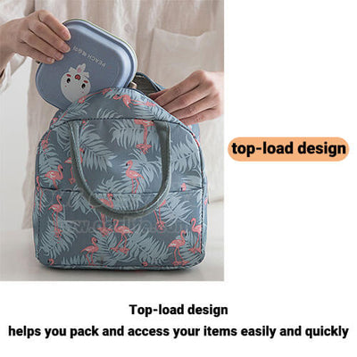 insulated cute lunch tote for women girls top load design