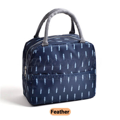 navy blue cute insulated lunch tote for women girls