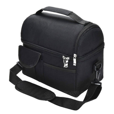 8L Large Capacity Thermal Insulated Lunch Cooler Bags for Women and Men-color-black
