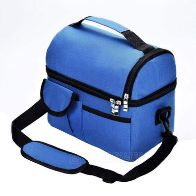 8L Large Capacity Thermal Insulated Lunch Cooler Bags for Women and Men-color-blue