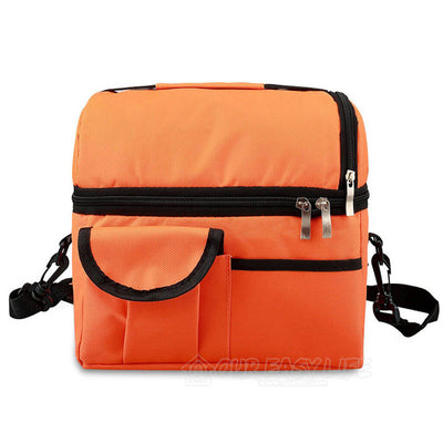 8L Large Capacity Thermal Insulated Lunch Cooler Bags for Women and Men-color-orange