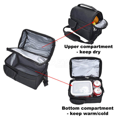 8L Large Capacity Thermal Insulated Lunch Cooler Bags for Women and Men-detail-two compartment