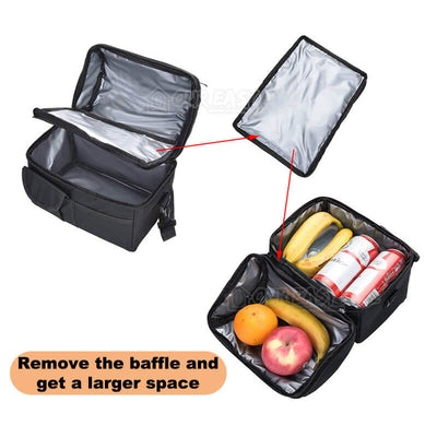 8L Large Capacity Thermal Insulated Lunch Cooler Bags for Women and Men-display the detachable baffle