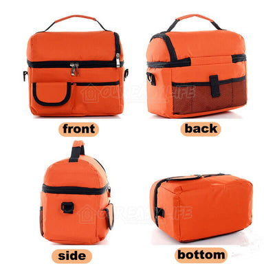 8L Large Capacity Thermal Insulated Lunch Cooler Bags for Women and Men-display four sides