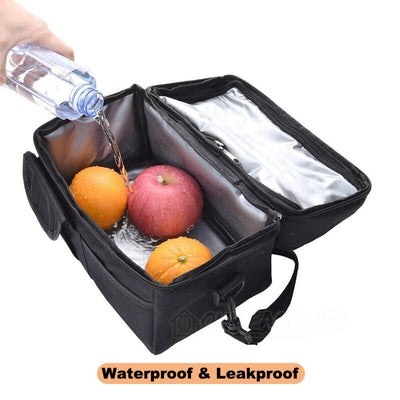 8L Large Capacity Thermal Insulated Lunch Cooler Bags for Women and Men-display the waterproof and leakproof lining
