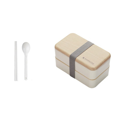 Double Decker Bento Lunch Boxes for Adults and Kids, Japanese Style