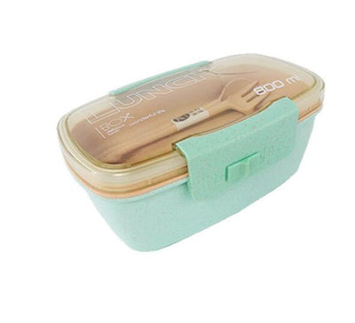Double Decker Bento Lunch Boxes for Adults and kids, Wheat Straw, 800ml