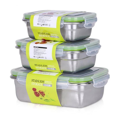 Stainless Steel Bento Lunch Boxes  for Adults and Kids, 4 Size