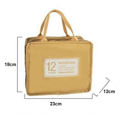 Fashionable PU Leather Lunch Bags Portable And Insulated Thermal For Women