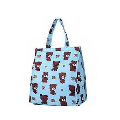 Cute Pattern Thermal Lunch Bag