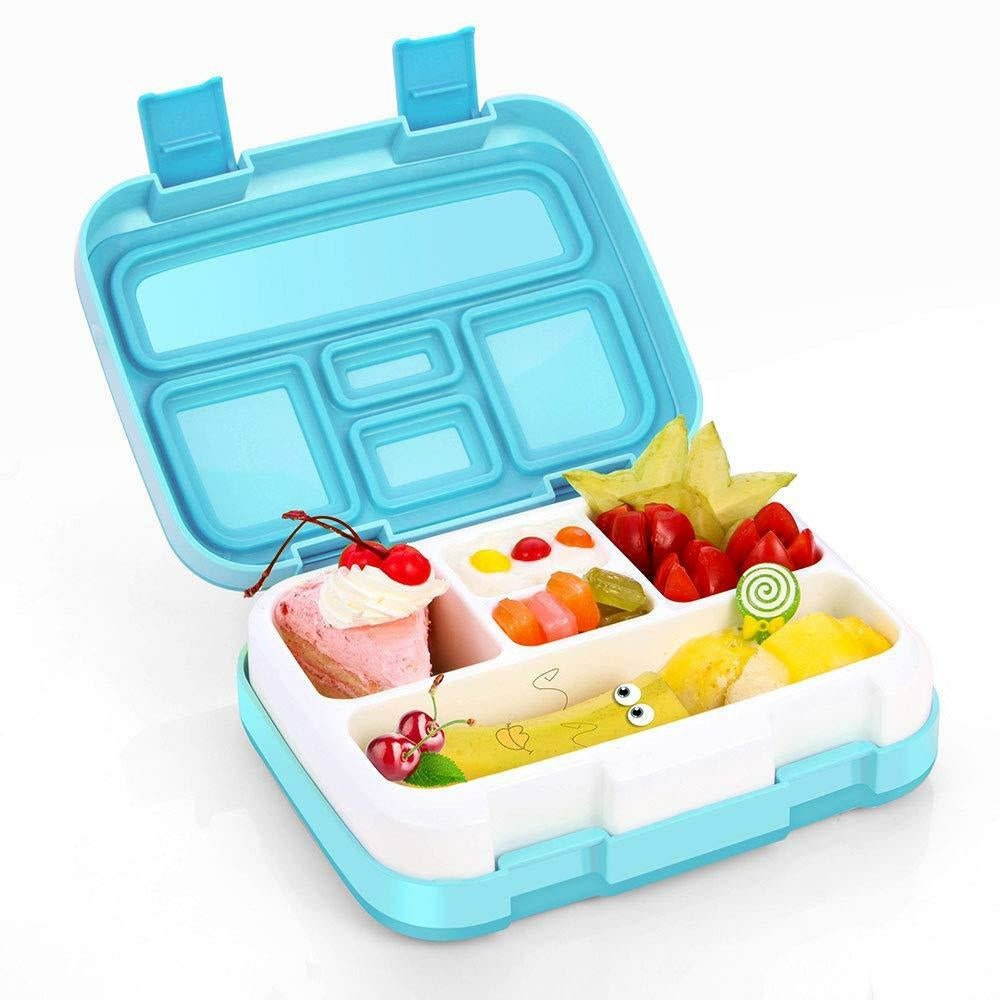 4/5 Compartments School Bento Lunch Boxes for Kids