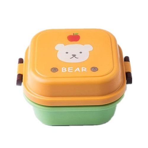 Double Decker Cute School Bento Lunch Boxes for Kids