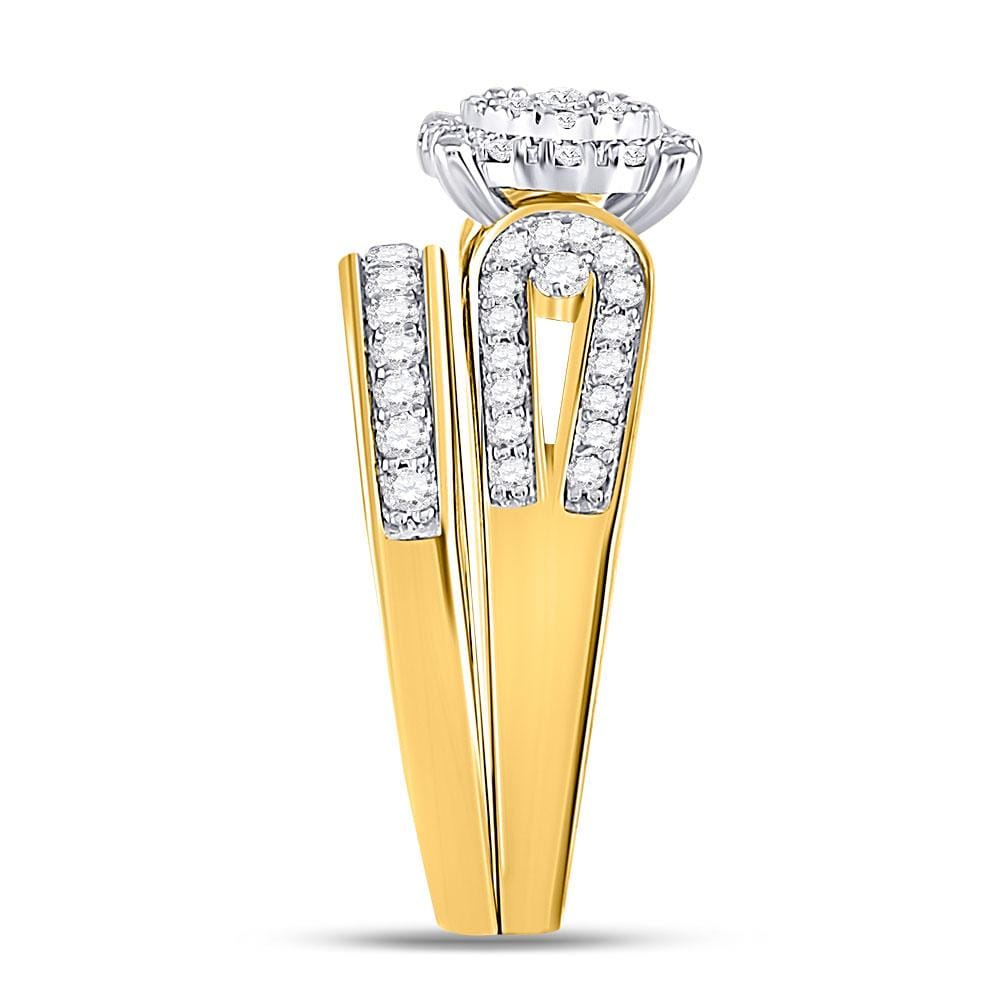 Diamond Wedding Band in 10K Yellow Gold G-H,I2-I3 Size-3.5 1//20 cttw,