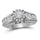 14kt White Gold Womens Round Diamond Round Bridal Wedding Engagement Ring 2.00 Cttw (Certified)