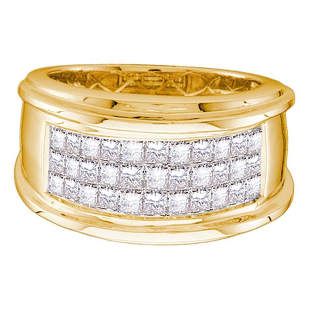 14kt Yellow Gold Mens Princess Diamond Wedding Band Ring 1 Cttw