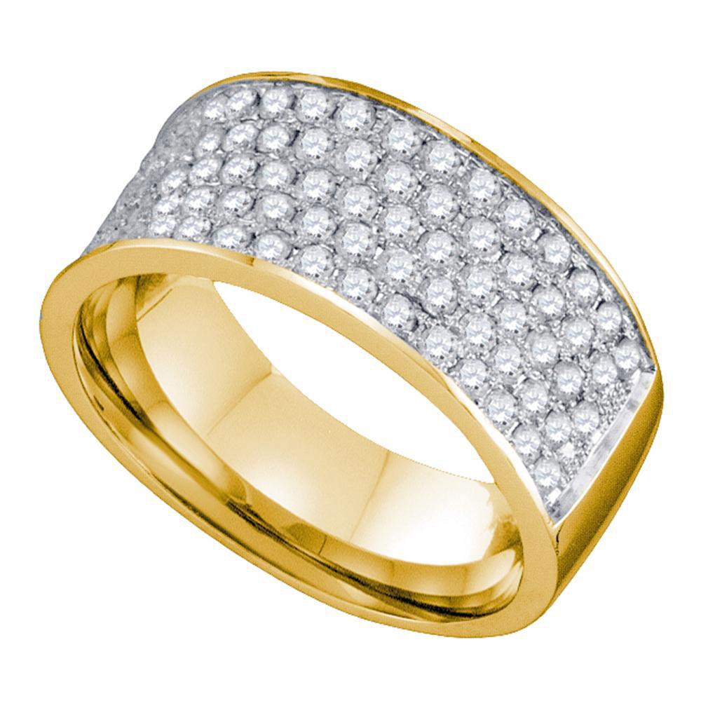 10kt Yellow Gold Womens Round Diamond Wedding Band 1.00 Cttw