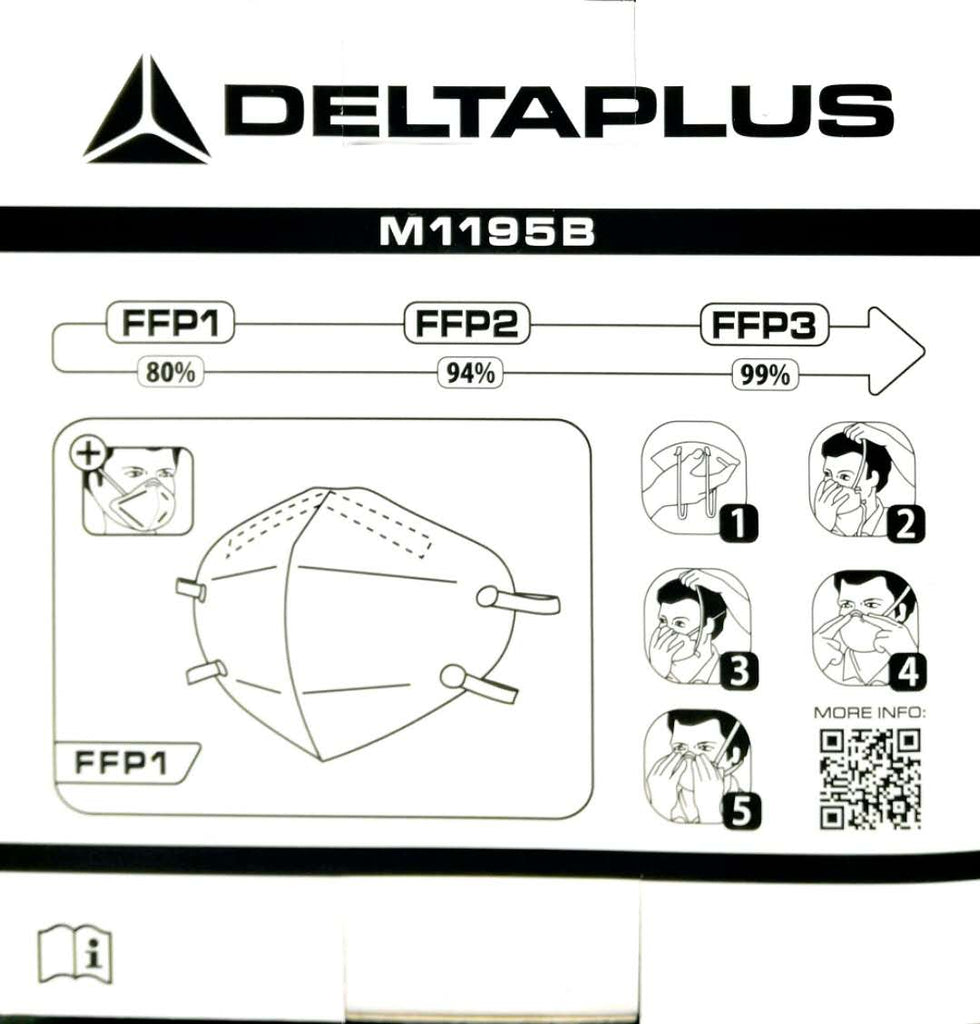NIOSH Authenticated N95 Mask-Delta Plus-4 Boxes&30 pcs/box