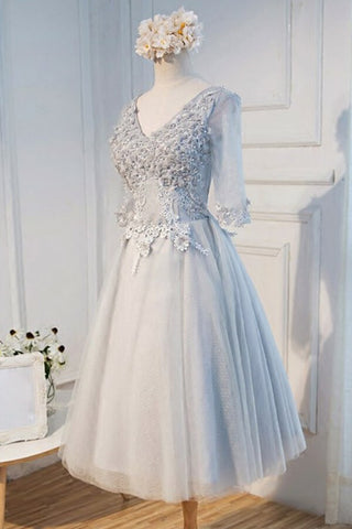 products/ED2024_1V-Neck_Tea-Length_Half_Sleeves_Grey_Tulle_Homecoming_Dress_with_Appliques.jpg