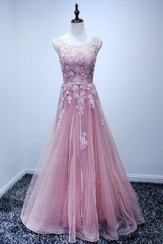 products/ED2115Pink_Tulle_Round_Neck_Long_Prom_Dresses_with_Applique.jpg
