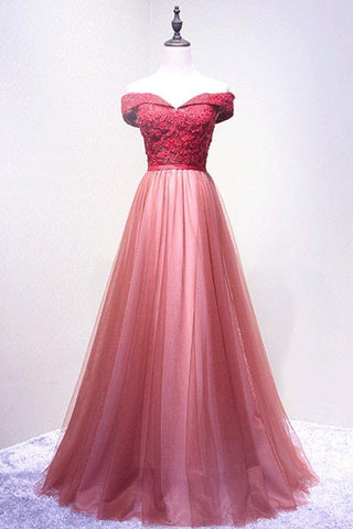 products/ED2125A_Line_Red_Off_Shoulder_Long_Tulle_Prom_Dresses.jpg